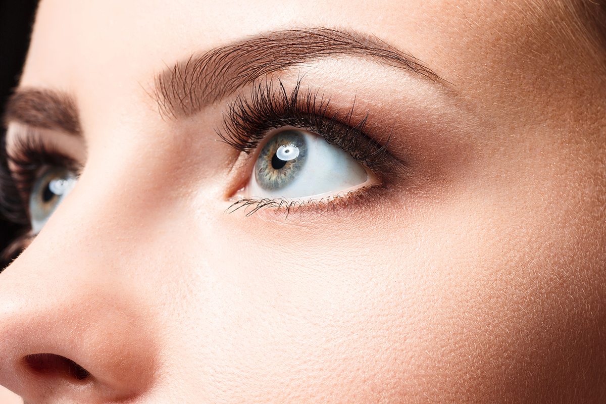 closeup picture of women's eyes