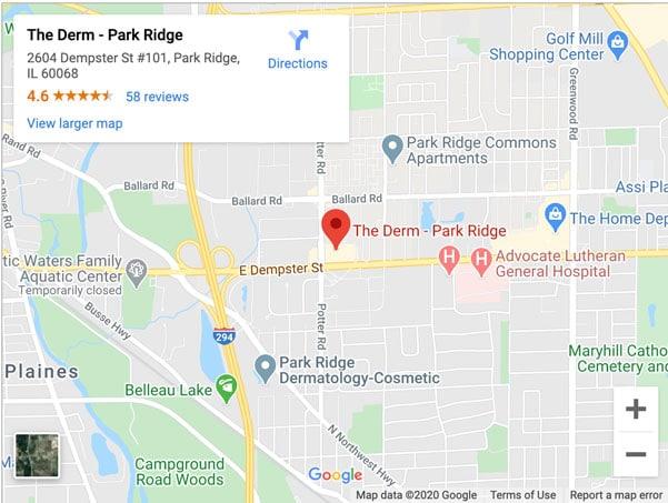 the derm park ridge office directions